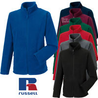 RUSSELL FLEECE JACKET WARM LIGHTWEIGHT SOFT WIND CHILL PROTECTION MEN'S XS-4XL
