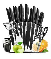 Stainless Steel Knife Set with Block - 13 Kitchen Knives Set Chef Knife Set