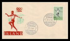 Iceland 1964 FDC, The Olympic Games In Toyko. Lot # 11.