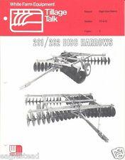Farm Implement Brochure - White - 261 262 263 271 272 Disc Harrow c1975 (FB913)