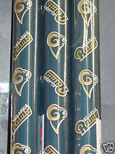"NFL ""St. Louis Rams"" Wrapping Paper (4 rolls) NEW"
