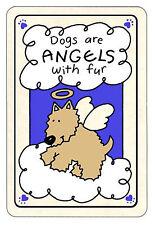 Dogs Are Angels - Edible Rawhide Card -  NIP