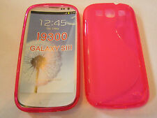 "Red Semi Transparent S Type ""S"" Samsung Galaxy S3 SIII i9300 TPU Plastic Case"
