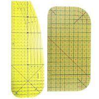 2Pcs/Set Ironing Measu Ruler Patchwork Sewing Tools for Clothing Making DIY N4F1
