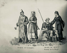 1819  GRAVURE ESTAMPES MOEURS COSTUME  TURC ARABE MECQUE