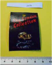 Enamel London Taxi Badge Pin  yellow door on card