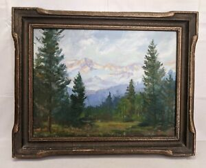 Vintage Dave Stirling (1887-1971) Rocky Mountain Colorado Landscape Painting