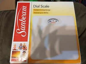 Sunbeam Full View Dial Scale SAB700 White Accurate to 300 lbs