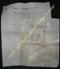 1883 Lancs ACCRINGTON Broad Oak Print WorksPlan & Document Surrender of a plot