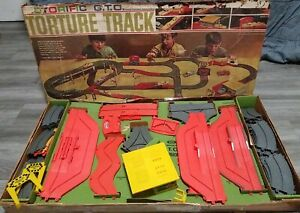 Vintage Ideal Motorific 1966 GTO Torture Track Race Track Set With Box + Extras!
