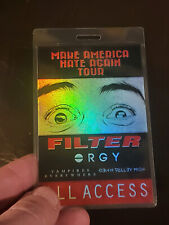 Filter Orgy Backstage pass All Access Laminate 2016 Tour