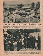 Spain's Civil War Deadlock Continues - 1936 Historic American Coverage