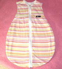 ALVI ☺ Schlafsack ☺ ohne Ärmel  70 cm geringelter weicher 100 % Baumwolle  *TOP*