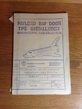 Authentic Vintage Space Shuttle Bay Door Flow and Build Plan Rockwell Int 1977