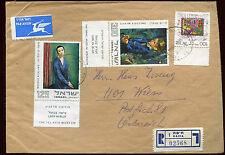 Israel 1974 Registered Cover To Austria #C22439