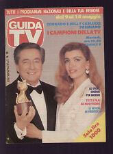 GUIDA TV MONDADORI 18/1993 CORRADO E MILLY CARLUCCI TELEGATTI CANALE 5