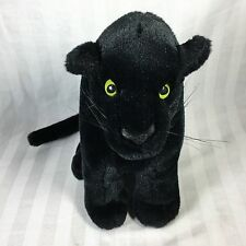 Vintage Plush Black Panther Green Yellow Eyes Unknown Maker
