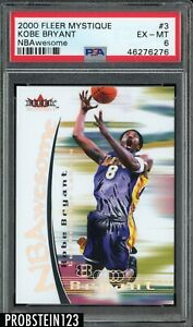 2000-01 Fleer Mystique NBAwesome Kobe Bryant Lakers HOF PSA 6 POP 1