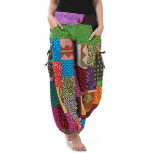 Vegan & Fair - Bunte Thai Jeans Haremshose Hippie Goa Hose Aladinhose Pumphose