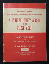 1940 JOHN THOMPSON Tuneful Duet Album Piano VG 4.0 Song Book 40pgs