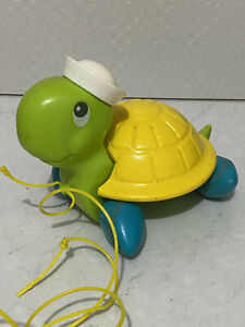 Vintage 1977 Fisher Price Pull Along Turtle Tag-Along Turtle # 644