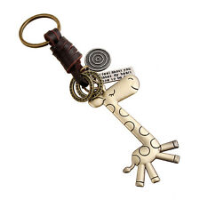 Vogue Giraff Key Chain Leather Keychains Men Women Keyring Keyfob Modern Gifts