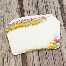 10-500pcs Handmade Flower Printed Paper Tags Labels DIY Wedding Thank You Cards
