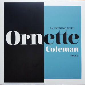 ORNETTE COLEMAN An Evening With LP Clear Vinyl RSD 2018 NEW