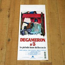 DECAMERON N° 3 LE PIU' BELLE DONNE DEL BOCCACCIO locandina poster Alfaro Z55