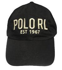 Polo Ralph Lauren Chino Adjustable Ball Cap Hat, BLACK POLO RL