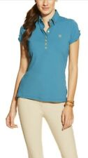 Ariat Womens Marquis Polo Short Sleeve / XS / Peacock Teal / NWT