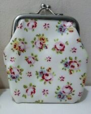 Cath Kidson Kids Small Coin Purse Floral Design Oil Skin Printed Lining