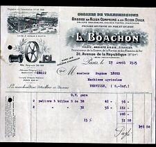 """PARIS (XI°) USINE de PANTIN (93) POULIES TAMBOURS CONES en bois """"Ets. BOACHON"""""""