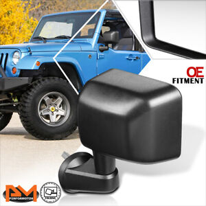Dependable Direct Left Side Textured Folding Mirror for 07-16 Jeep Wrangler