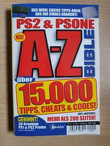 A-Z PS2 & PSONE Bible Bibel Ratgeber 15.000 Tipps Cheats & Codes Taschenbuch