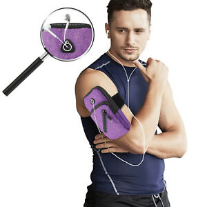 Sports Armband Pouch Cell Phone Holder Arm Bag Exercise Running Jogging Gym US