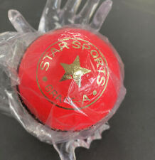 Pink Test Cricket Ball Leather Entirely Hand Stitched, 5.5oz Hard Ball
