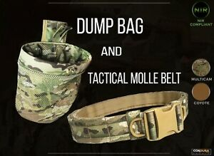 Set of Tactical MOLLE belt and dump pouch (bag) Save near 10%. BNWT