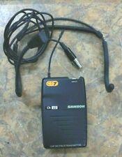 New listing Samson Ct7 Transmitter Ch U2 Uhf Beltpack & Qv Mic Headset w/ Mini Xlr Jack