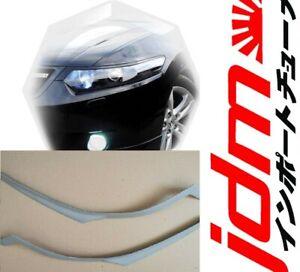 For Acura TSX Honda Accord 08-2012 Eyebrows Eyelids Headlight Covers Primed