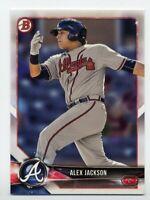 2018 Bowman #BP9 ALEX JACKSON Atlanta Braves ROOKIE CARD RC PROSPECT