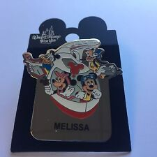 WDW Monorail MELISSA Name Pin FAB 4 Mickey Minnie Goofy Donald Disney Pin 15004