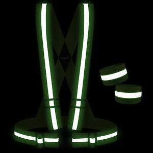 Adjustable Reflective Vest Gear Running Safety Vest High Visible Safety Bands