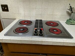 """Vintage Jenn Air 30"""" Cooktop Electric Coils Downdraft Stainless -- PLEASE READ"""