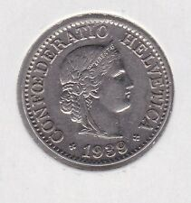 10 Rappen Schweiz Switzerland Helvetia Münze 1939 B