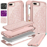 For Apple iPhone 7 8 Plus Luxury Fashion Cute Glitter Bling Hard Case Cover
