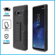 Samsung Galaxy S8 Future Armor Cover Coque Hoesje Hard Case Black + Kickstand