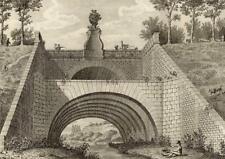 Architecture Fontaine de Juvisy - Aubin Louis Millin Gravure originale XVIIIe