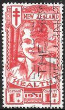 NEW ZEALAND 1931 1d + 1d Smiling Boy, FU slogan cancel. SG 546.