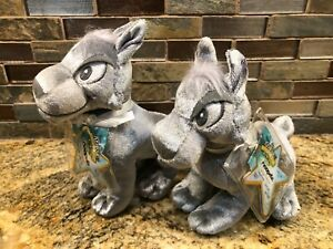 Neopets Silver Lupe Gold Limited Edition Plush w/ Unused code NWT